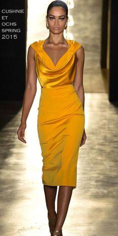Marigold Dress (yellow-Orange Colour)