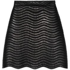 Gucci Quilted Leather Skirt