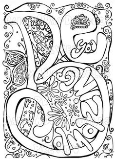 Digital Download Print Your Own Coloring Book by