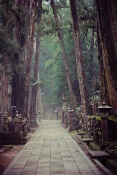 Koyasan Japón cementerio Okunoin