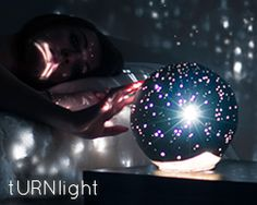 Really beautiful concept... This urn for ashes lights up like stars at night.