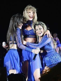 Fifth Harmony perform with Taylor Swift @ The 1989 Tour in Santa Clara (08.14.15)