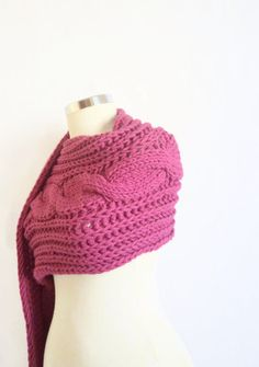 SCARVES  SPRING scarf Purple Scarf long k bolero by modelknitting