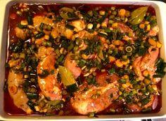 Baiț yummy pentru friptura de miel! Salvia, Paella, Vegetable Pizza, Meat, Chicken, Vegetables, Ethnic Recipes, Solar, Food
