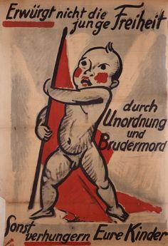 Plakat, Max Pechstein Werbedienst der Deutschen Republik, Berlin, 1918 Farblithographie, Steindruck, 100 x 67,3 cm © Deutsches Historisches Museum, Berlin