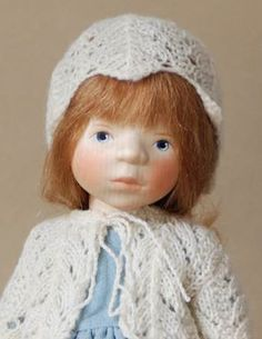 Girl in Pale Blue H341 by Elisabeth Pongratz