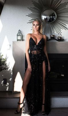 At Lady Luxe Boutique: we provide new arrivals Casino Royale black gown with all sizes available at Price: AUD. Hurry up and visit us at: Casino Royale Dress, Casino Dress, Long Sequin Dress, Maxi Dress With Slit, Double Slit Dress, Sequin Maxi, Dress Skirt, Evening Dresses, Prom Dresses