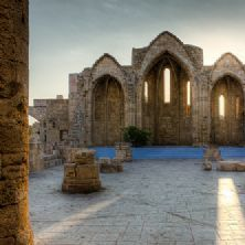 Churches in Medieval old town, Rhodes, Greece