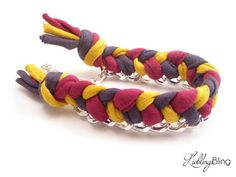 Armband geflochten, 3-farbig von LieblingsBling auf DaWanda.com