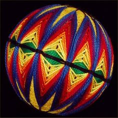 rainbow temari (I, Eli, didn't make this one, but I have made two like this in different colours)