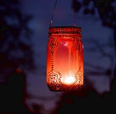 Canning Jars as Outside Lights