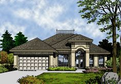 Plan THD-HDS-3930: 1 Story, 3 Bedrooms, 2 Full Baths, 2 Car Garage, 1550 Square Feet