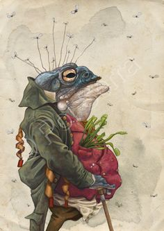 Sapo / Toad on Behance Frosch Illustration, Illustration Art, Frog Pictures, Funny Frogs, Frog Art, Ecole Art, Frog And Toad, Whimsical Art, Pet Portraits