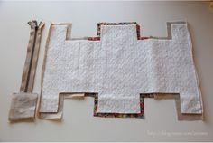 Block zip pouch | Minki's Work Table