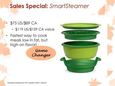 Tupperware Smart Steamer on sale $75. Save over $40.  www.sandiperez.my.tupperware.com