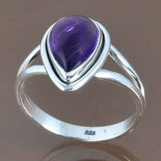 HOT SELLING 925 STERLING SILVER AMETHYST LATEST RING 3.52g DJR9106 SZ-9 #Handmade #Ring