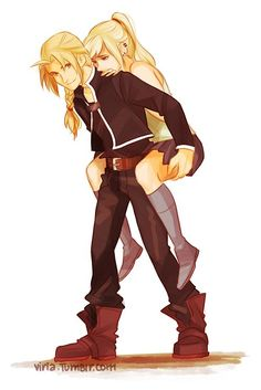 edward and winry from fma #anime