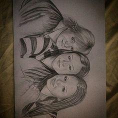 Family girls art portret