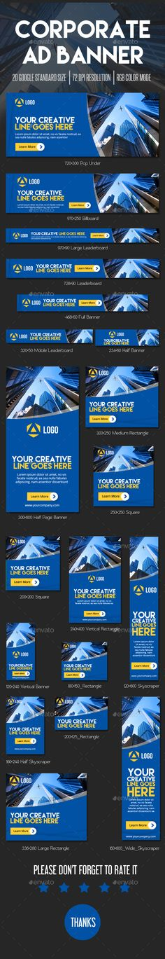 Corporate Ad Web Banner Template PSD. Download here: http://graphicriver.net/item/corporate-ad-banner/14980685?ref=ksioks