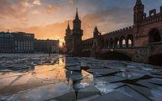 壁紙をダウンロードする 冬の朝, ワルシャワ橋, ベルリン