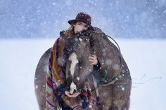 Sabrina & Don, Picture by Alexandra Evang Photographie, People & Equine Photographer, Horse, Equine, Snow, Fotoshootings, Winter
