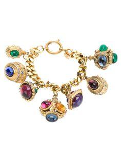 Chanel Vintage Charm Bracelet.