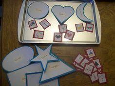 Preschool Fun - Sorting by shape