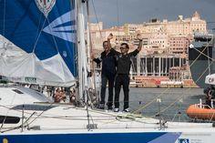 Gaetano con Santino Concu saluta  da Italia