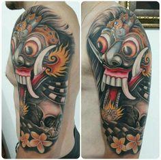 Rangda bali mask tattoo