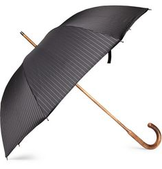 Sexy Umbrella: London Undercover Pinstripe Umbrella w/ Orange lining   MR PORTER