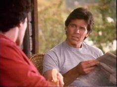 """Grant Goodeve as Richard """"Rick"""" Pederson talking to Joel after Joel's first night in Cicely, from """"Pilot"""" S1, E1."""