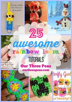 25 awesome Rainbow Loom Tutorials {round up} - Our Three Peas