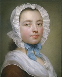 Self-portrait by Therese Concordia Mengs Maron (1725-1806) the sister of painter Anton Raphael Mengs, and wife to another painter, Anton von Maron.