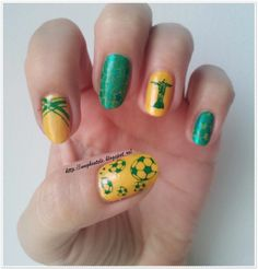 Unghiutze colorate-Happy nails: FIFA World Cup 2014 Inspired Nails