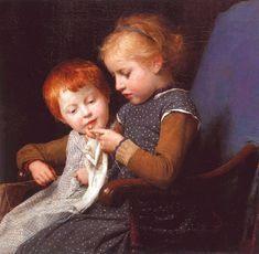 Kinderbegräbnis - Albert Anker - WikiPaintings.org