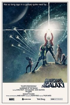"""Guardians of the Galaxy Poster. OH my gosh, it's based on the original """"Star Wars"""" poster! Marvel Dc, Films Marvel, Image Cinema, Image Film, Fan Poster, Movie Poster Art, Classic Movie Posters, Poster Series, Posters Vintage"""