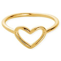 ChloBo Sun Dance Cherish Heart Ring - Gold ($53) ❤ liked on Polyvore featuring jewelry, rings, gold, heart shaped jewelry, open heart ring, heart ring, gold jewelry and layered rings