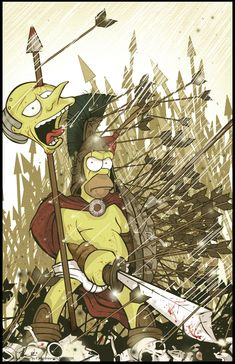 """Homer Dines in Hell."" Art by Angelgaby. Simpsons Drawings, Simpsons Art, Best Cartoons Ever, Cool Cartoons, Simpson Wallpaper Iphone, Cartoon Crossovers, American Dad, Futurama, Fan Art"
