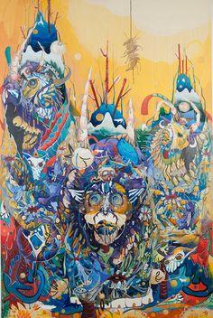 Juxtapoz Magazine - Paintings by Mi Ju Illustration Design Graphique, Art Et Illustration, Art Cobra, Colorful Paintings, Art Design, Surreal Art, Medium Art, Art World, Creative Art
