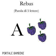 REBUS FACILI PER BAMBINI Tarot, Ely, Thoughts, Education, Words, Barbie, Fitness, Quotes, Alphabet