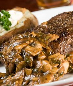 Ingredients: 2 to 4 beef tenderloin steaks Salt and freshly ground pepper, to taste 1 tablespoon olive oil 8 ounces sliced mushrooms 3 tablespoons butter 1/2 cup dry red wine 1 1/2 cups beef stock 1 tablespoon flour 2 tablespoons fresh chopped herbs (rosemary, parsley, chives, thyme or a combination) Directions: Season steaks well with …