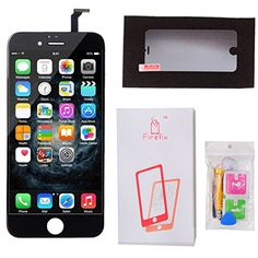 Firefix™For iPhone 6 4.7 inch LCD Display Touch Screen Digitizer Replacement Screen Mobile Phone Parts Assembly with Free Repair Tools kit (Black)