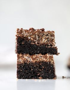 nutella coffee crunch brownies I howsweeteats.com