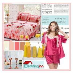 """Beddinginn.com 3"" by djulovic-mirela ❤ liked on Polyvore featuring interior, interiors, interior design, home, home decor, interior decorating, Tiffany & Co., Dot & Bo and Beddinginn"