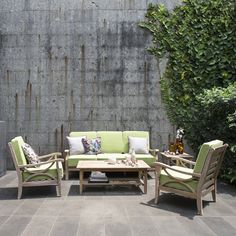 Get this Cambridge Casual Kensington Sofa Conversation Set, which is a 5 piece sofa teak conversation outdoor patio set, great to seat your guests and family.