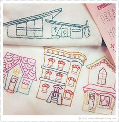 DREAM HOMES - New Embroidery Patterns from Sublime Stitching