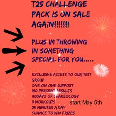 Guess what that's right, its on sale again, and its only 25 minutes a day.  You will get in the best shape of your life in just 25 minutes a day.  This program is a game changer, and Im personally throwing in something extra special for you, you will not want to miss this offer.  If you've been wanting to do T25, and try shakeology, ,and want to get into the best shape of your life in the next 10 weeks, contact me today or send me an email to sonnydibble@gmail.com and find out how