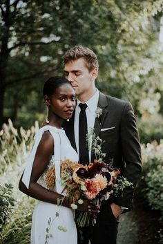 This stunning Chicago wedding portrait inspiration created by Allie Appel Photography features a refreshingly modern take on the downtown urban bride Wedding Couples, Cute Couples, Wedding Day, Wedding Favors, Wedding Events, Wedding Programs, Lgbt, Biracial Couples, Interacial Couples