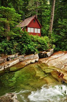 Cabin Porn™          – A summer cabin along Denny Creek near Snoqualmie Pass, Washington