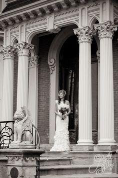 Stunning! On the portico at the Mansion on Delaware